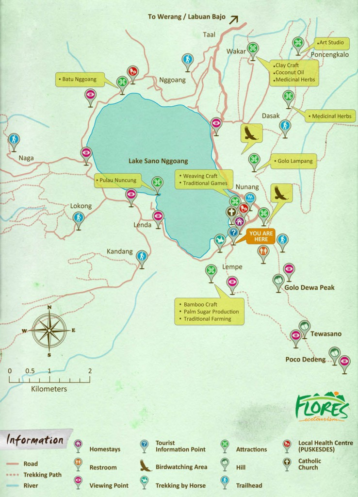 Lake Sano Nggoang Tourism Map